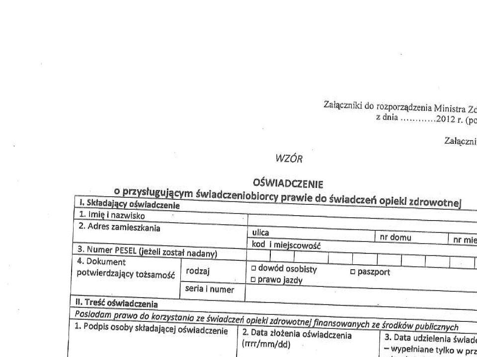Załącznik do zarządzania nr 14/2013/DSOZ Prezesa Narodowego Funduszu Zdrowia z dnia 21 marca 2013 r.