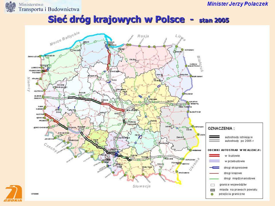 13 Wydatki na drogi krajowe wg planu 2006 (mln zł) Ogółem PLAN 2006 9 244 mln zł Minister Jerzy Polaczek