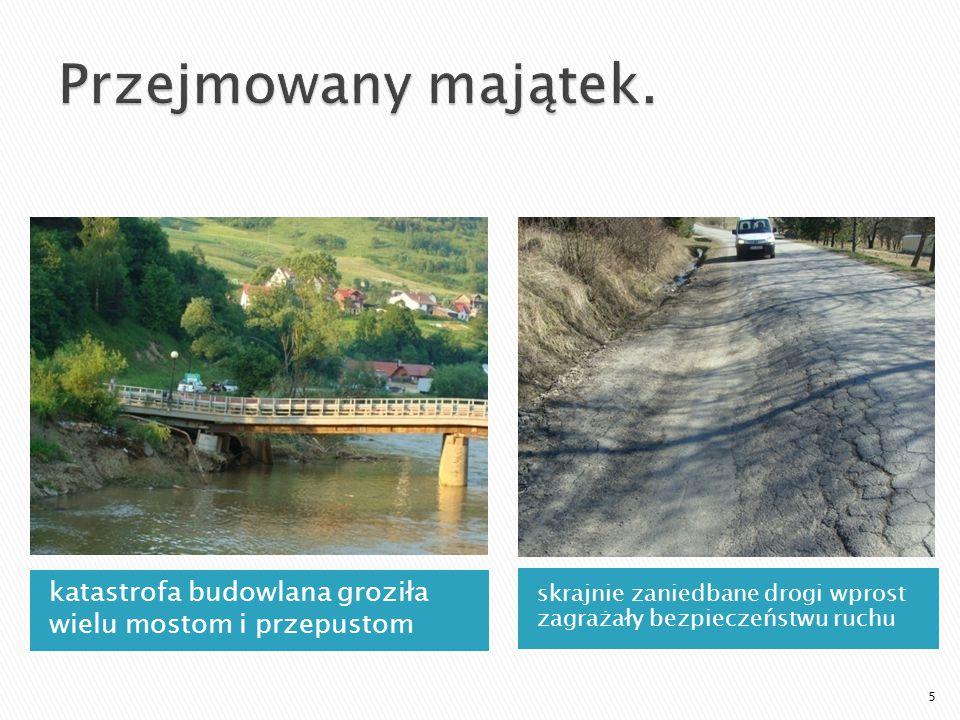 katastrofa budowlana groziła wielu mostom i przepustom skrajnie zaniedbane drogi wprost zagrażały bezpieczeństwu ruchu 5