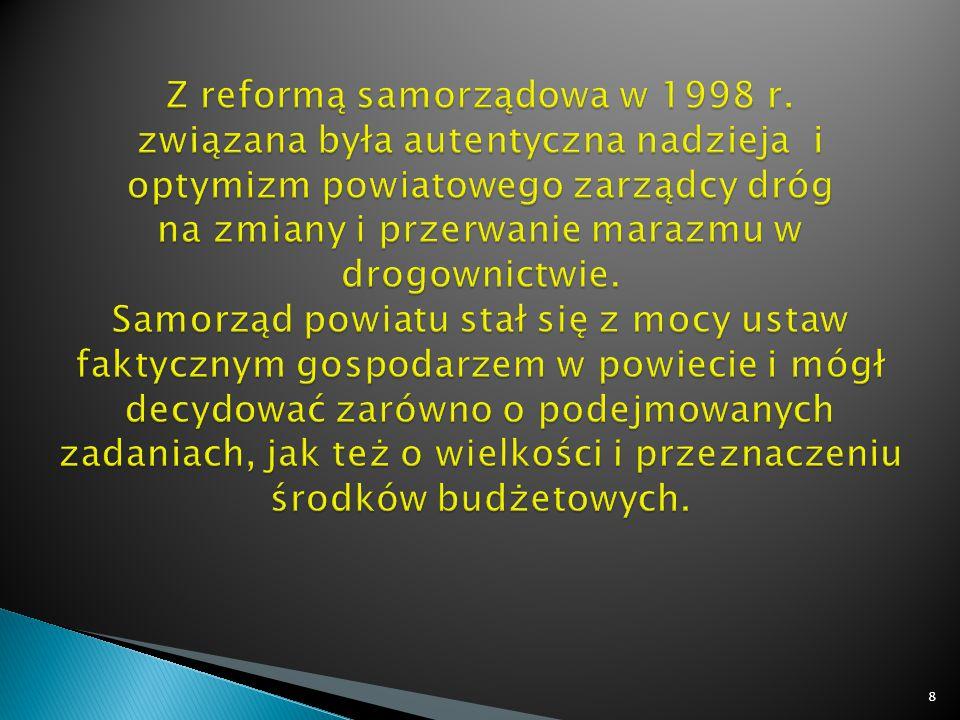  drastyczne cięcia w budżetach Powiatów; brak możliwości zaciągania kredytów,  wymuszenie (art.
