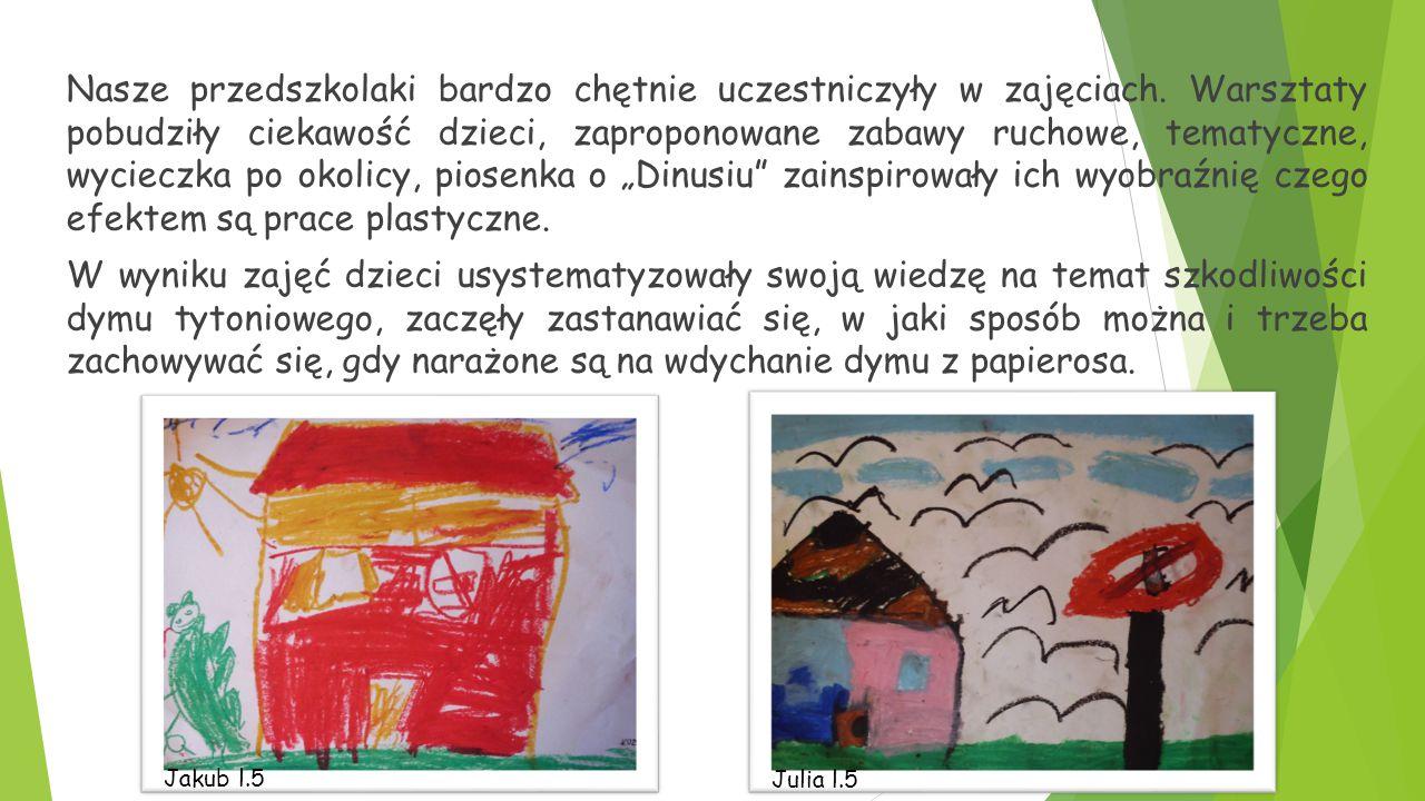 Nasze przedszkolaki bardzo chętnie uczestniczyły w zajęciach.