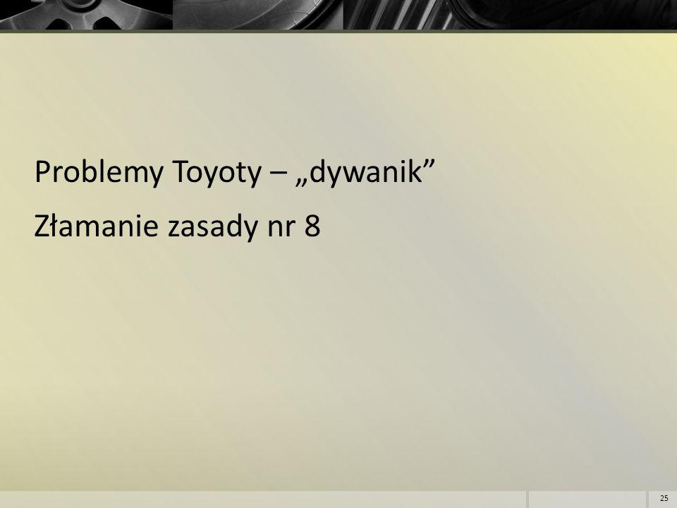 """Problemy Toyoty – """"dywanik"""" Złamanie zasady nr 8 25"""
