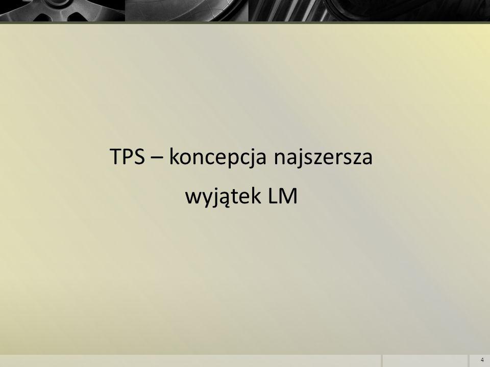 TPS – koncepcja najszersza wyjątek LM 4