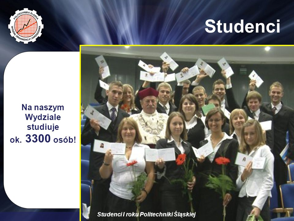 Wydział Organizacji i Zarządzania Studenci Na naszym Wydziale studiuje ok.