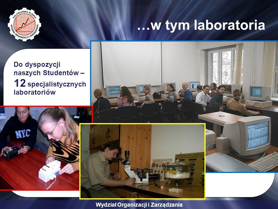 Wydział Organizacji i Zarządzania …w tym laboratoria Do dyspozycji naszych Studentów – specjalistycznych laboratoriów 12