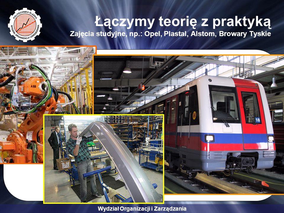 Wydział Organizacji i Zarządzania Łączymy teorię z praktyką Zajęcia studyjne, np.: Opel, Plastal, Alstom, Browary Tyskie