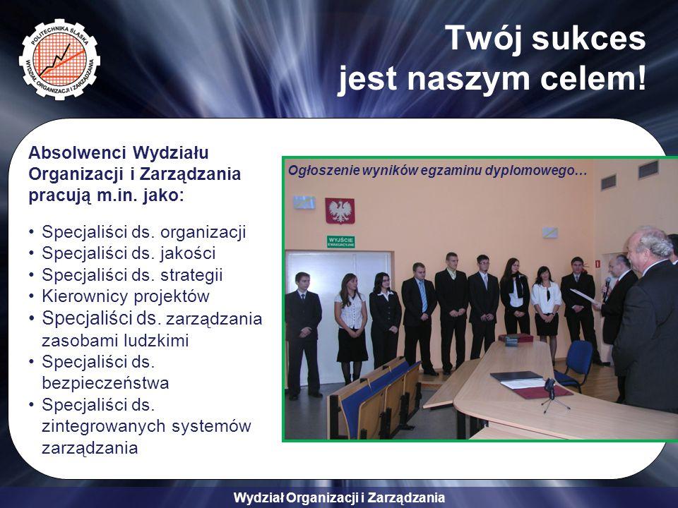 Wydział Organizacji i Zarządzania Twój sukces jest naszym celem.