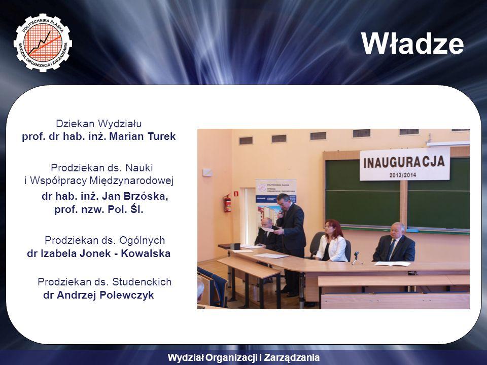 Wydział Organizacji i Zarządzania Władze Dziekan Wydziału prof.