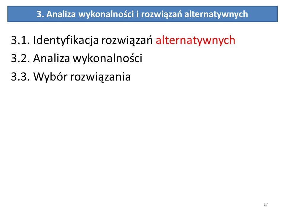 3. Analiza wykonalności i rozwiązań alternatywnych 3.1. Identyfikacja rozwiązań alternatywnych 3.2. Analiza wykonalności 3.3. Wybór rozwiązania 17