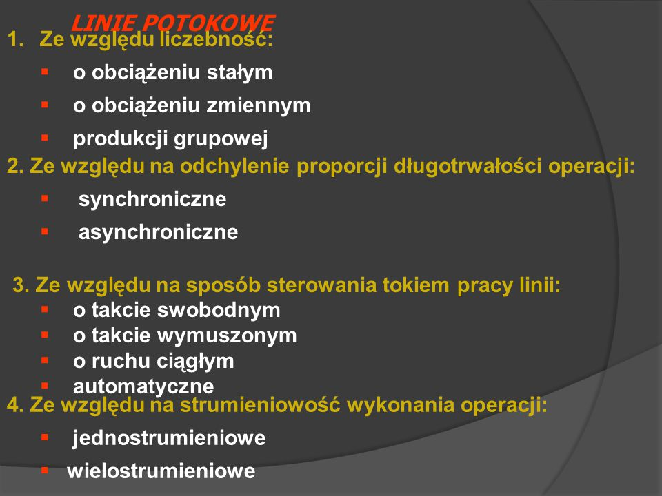 LINIE POTOKOWE 3.