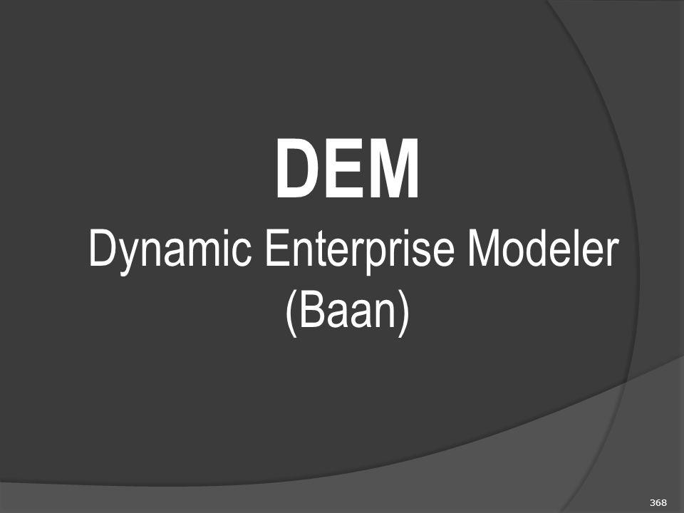 368 DEM Dynamic Enterprise Modeler (Baan)