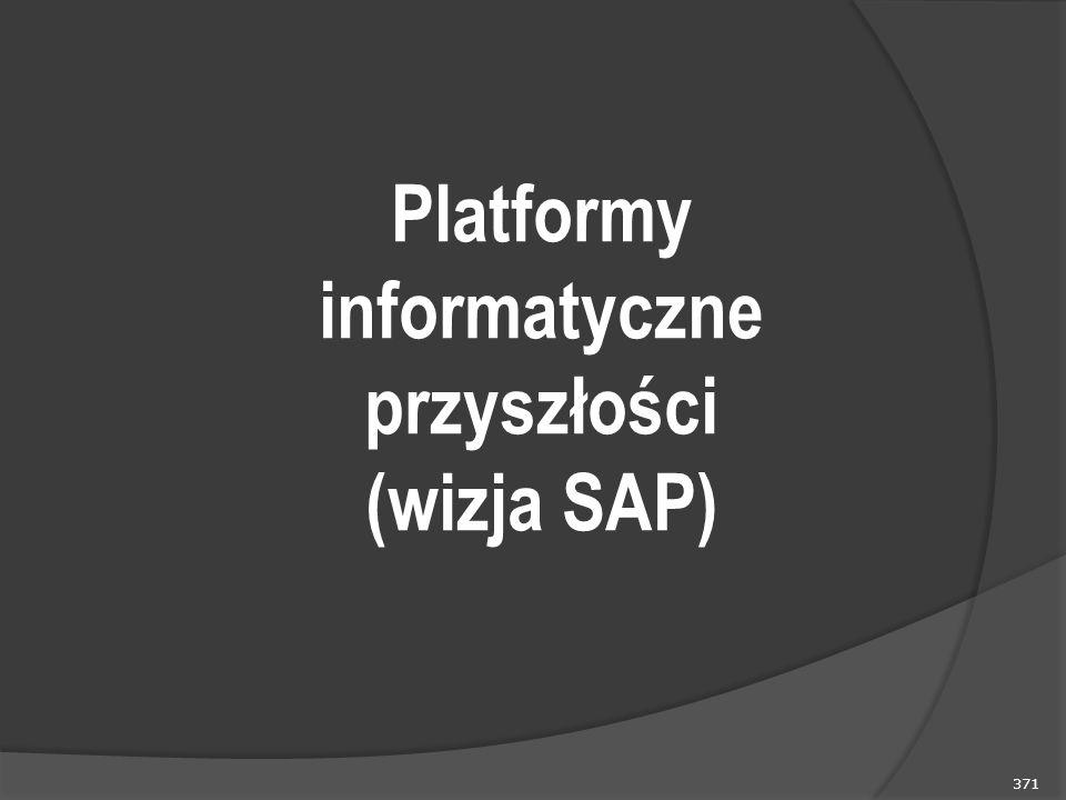 371 Platformy informatyczne przyszłości (wizja SAP)