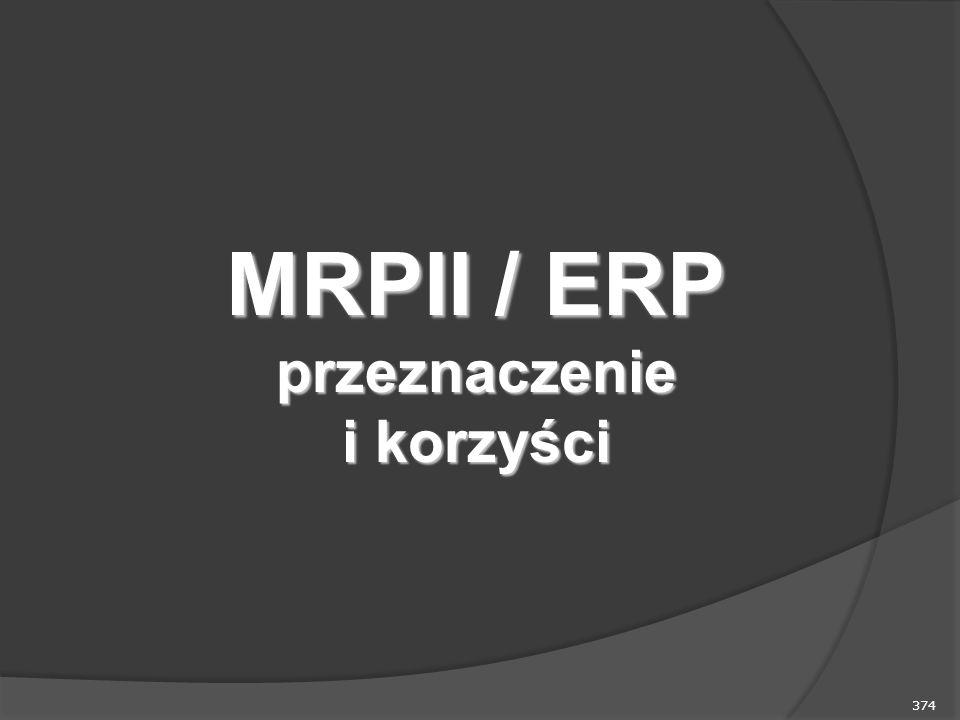 374 MRPII / ERP przeznaczenie i korzyści