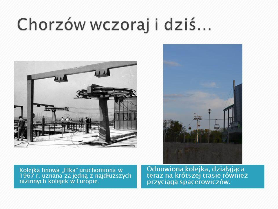 """Kolejka linowa """"Elka"""" uruchomiona w 1967 r. uznana za jedną z najdłuższych nizinnych kolejek w Europie. Odnowiona kolejka, działąjąca teraz na krótsze"""