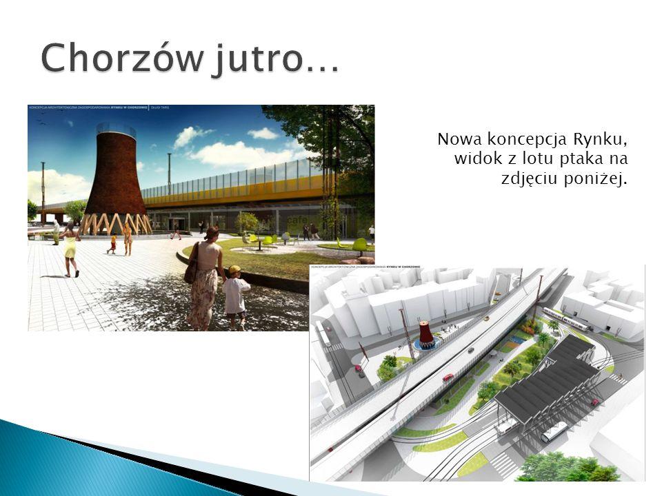 Nowa koncepcja Rynku, widok z lotu ptaka na zdjęciu poniżej.