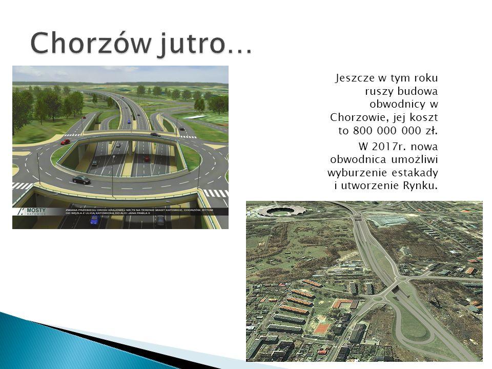 Jeszcze w tym roku ruszy budowa obwodnicy w Chorzowie, jej koszt to 800 000 000 zł. W 2017r. nowa obwodnica umożliwi wyburzenie estakady i utworzenie