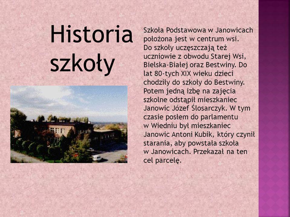 Szkoła Podstawowa w Janowicach położona jest w centrum wsi.
