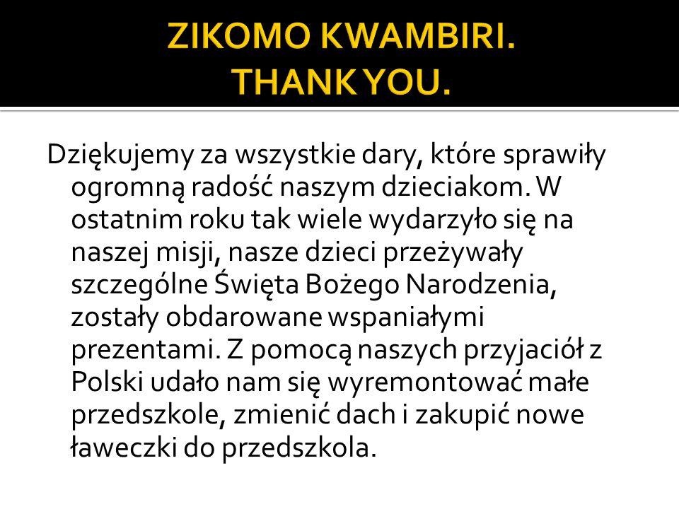 Dziękujemy za wszystkie dary, które sprawiły ogromną radość naszym dzieciakom.