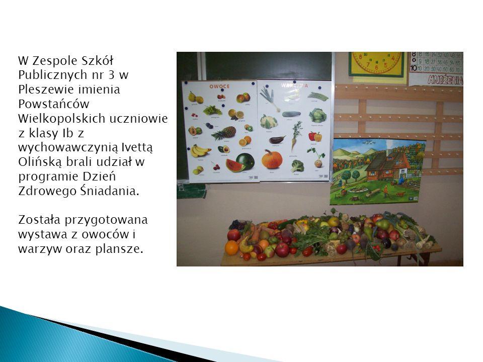 W Zespole Szkół Publicznych nr 3 w Pleszewie imienia Powstańców Wielkopolskich uczniowie z klasy Ib z wychowawczynią Ivettą Olińską brali udział w pro
