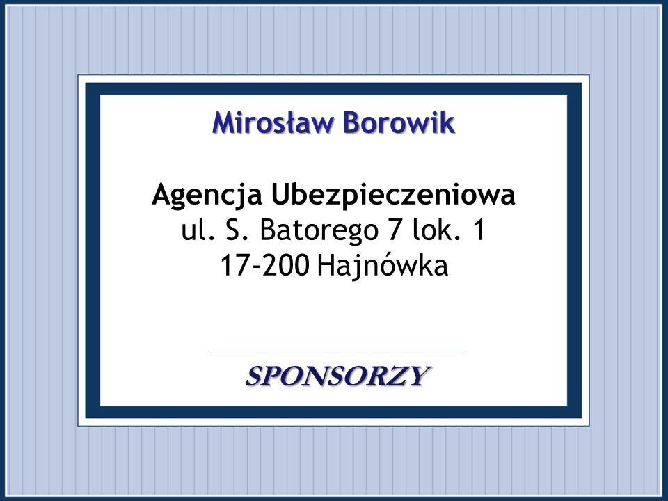 """Mariola Rogoza SPONSORZY Mariola Rogoza Sklep strzelecko - myśliwski """"SNAJPER ul."""
