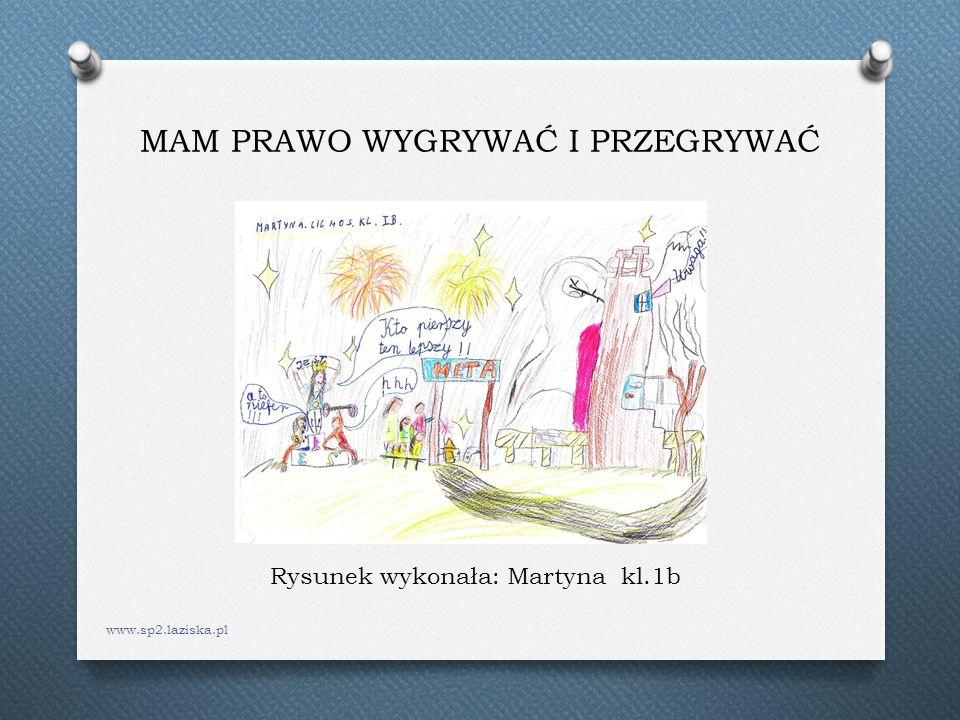 MAM PRAWO WYGRYWAĆ I PRZEGRYWAĆ www.sp2.laziska.pl Rysunek wykonała: Martyna kl.1b