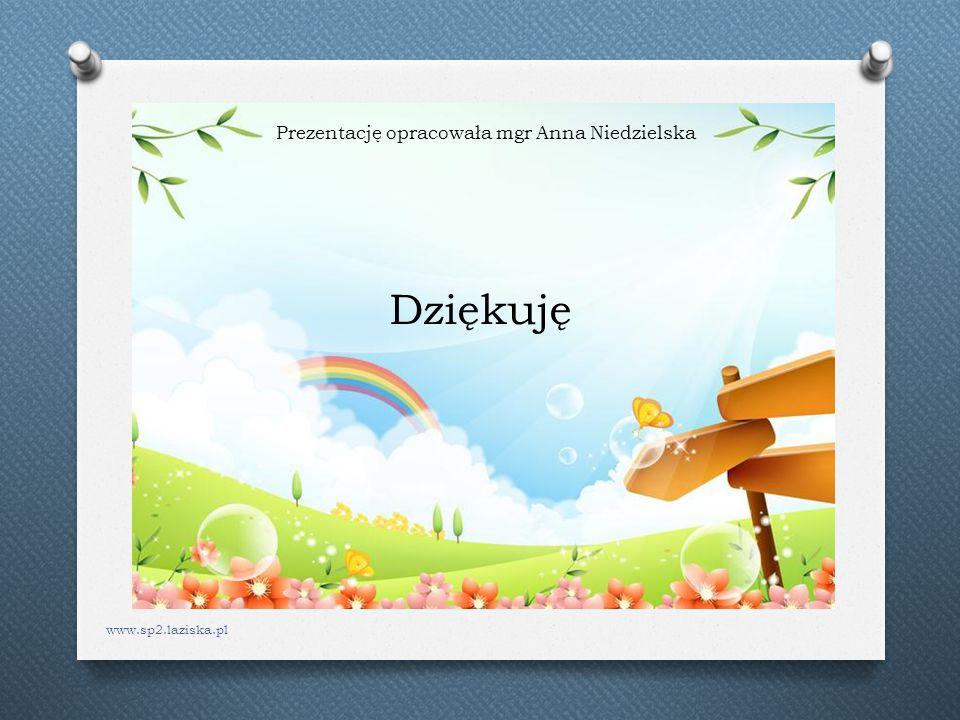Dziękuję Prezentację opracowała mgr Anna Niedzielska