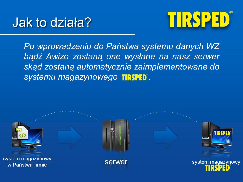 Jak to działa? Po wprowadzeniu do Państwa systemu danych WZ bądź Awizo zostaną one wysłane na nasz serwer skąd zostaną automatycznie zaimplementowane
