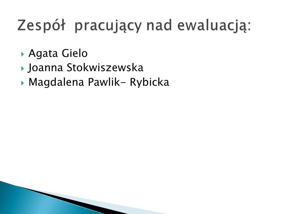  Agata Gielo  Joanna Stokwiszewska  Magdalena Pawlik- Rybicka