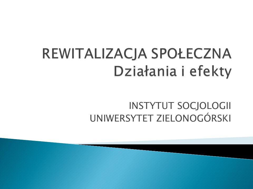 INSTYTUT SOCJOLOGII UNIWERSYTET ZIELONOGÓRSKI