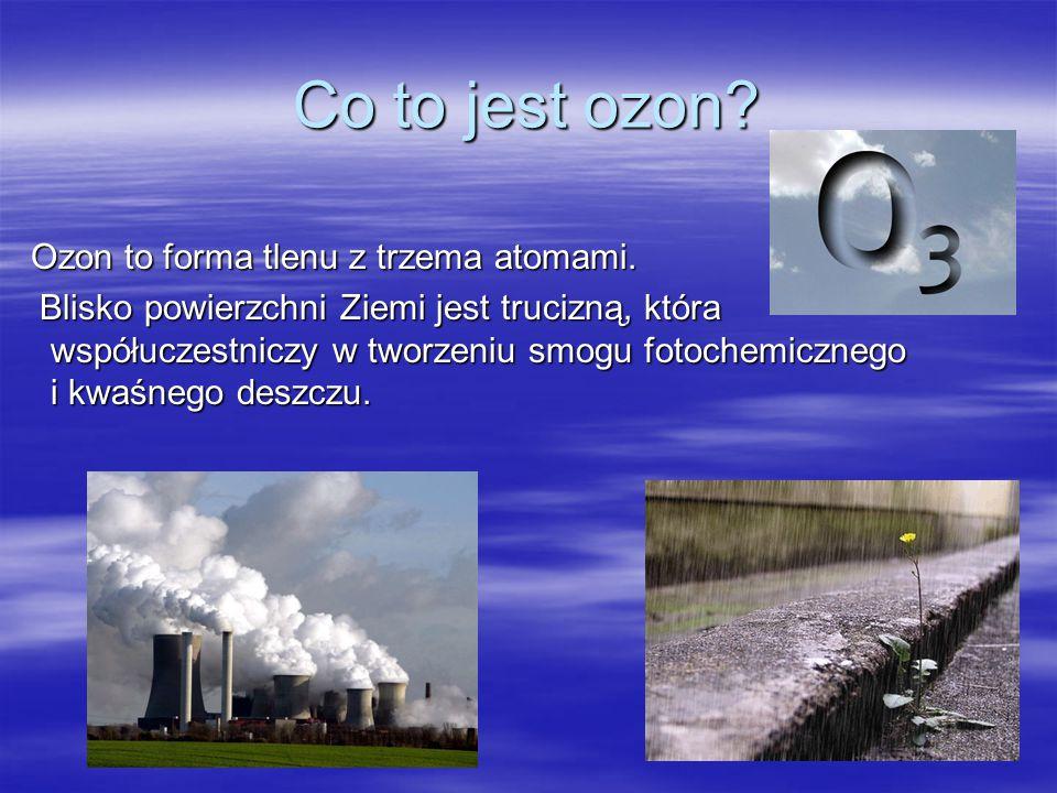 Co to jest ozon? Jak powstaje ozon? Czym jest dziura ozonowa ? Powstawanie dziury ozonowej Jak działa dziura ozonowa? Skutki niszczenia warstwy ozonow