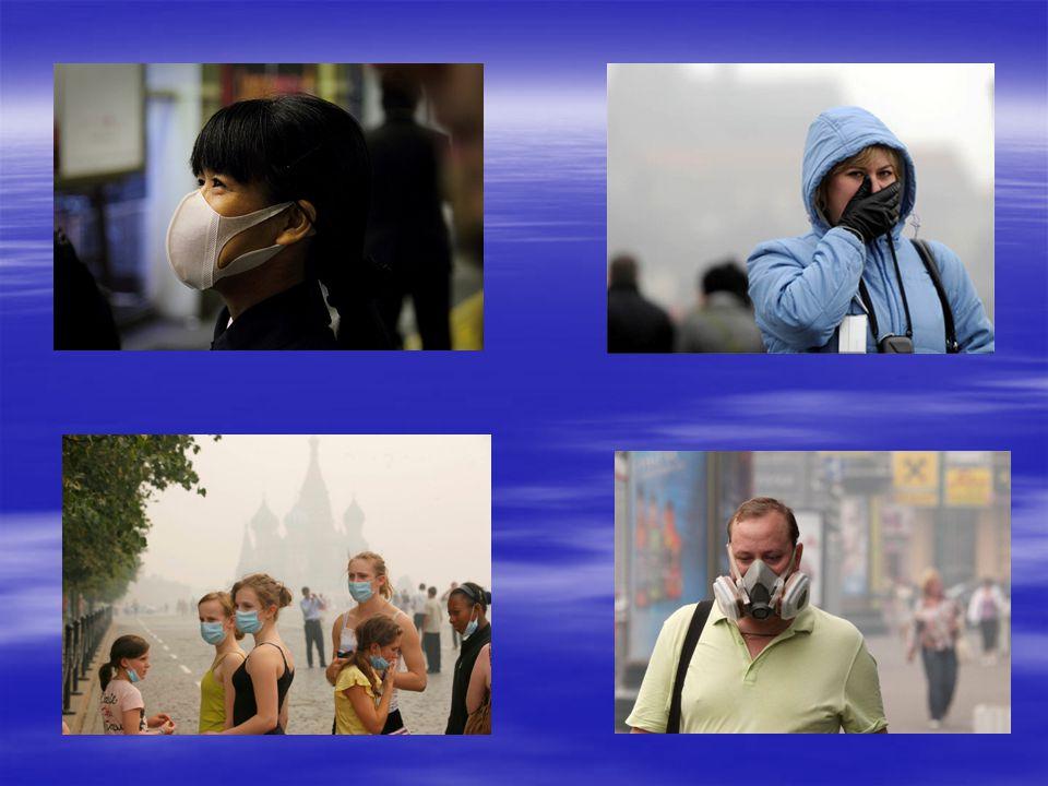 Smog, zanieczyszczone powietrze zawierające duże stężenia pyłów i toksycznych gazów, których źródłem jest głównie motoryzacja i przemysł.