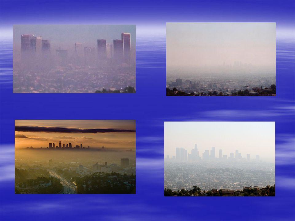 Rozróżnia się dwa rodzaje smogu: 1) smog typu Los Angeles (smog fotochemiczny, utleniający), może wystąpić od lipca do października przy temperaturze