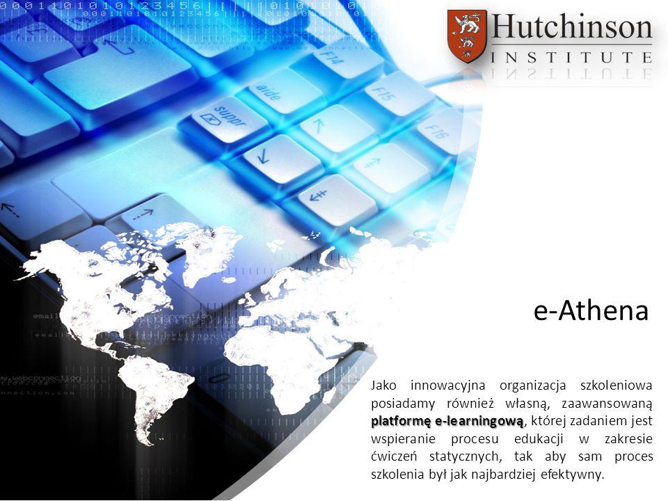 platformę e-learningową Jako innowacyjna organizacja szkoleniowa posiadamy również własną, zaawansowaną platformę e-learningową, której zadaniem jest wspieranie procesu edukacji w zakresie ćwiczeń statycznych, tak aby sam proces szkolenia był jak najbardziej efektywny.