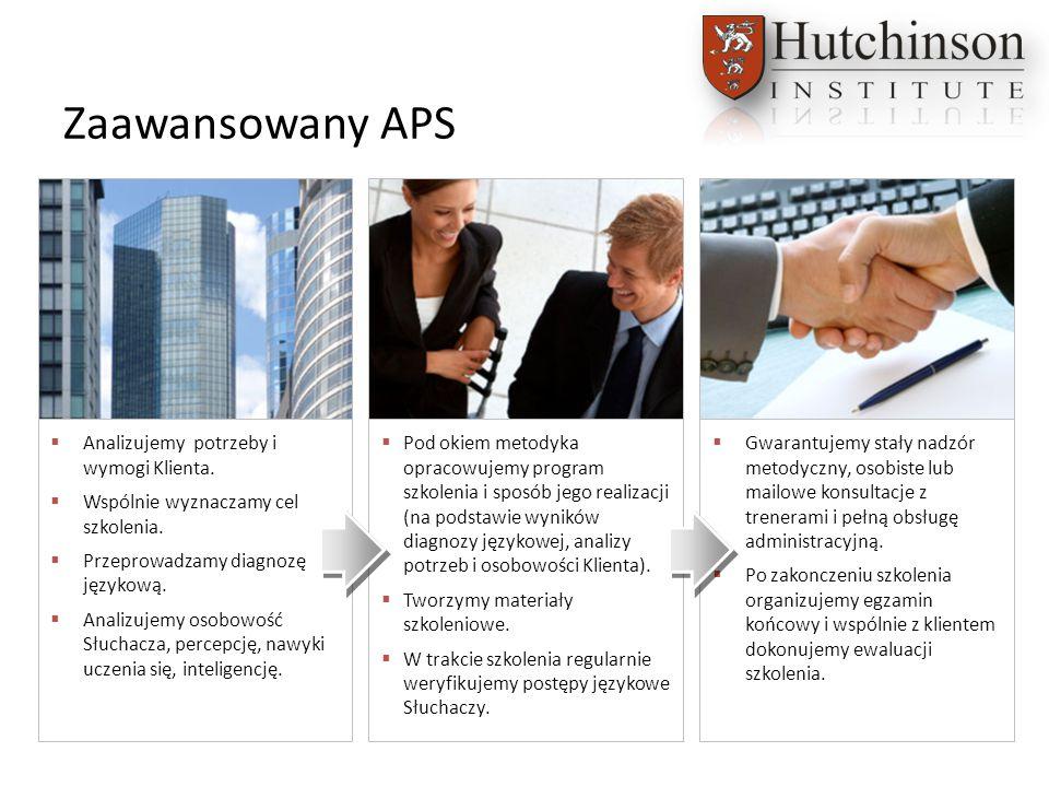Zaawansowany APS  Analizujemy potrzeby i wymogi Klienta.