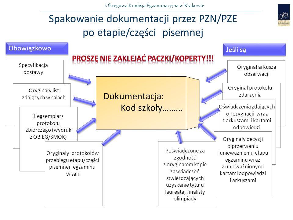 Okręgowa Komisja Egzaminacyjna w Krakowie Dokumentacja: Kod szkoły……...