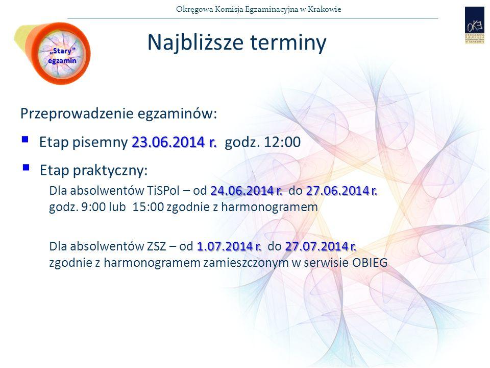 Okręgowa Komisja Egzaminacyjna w Krakowie Przeprowadzenie egzaminów: 23.06.2014 r.
