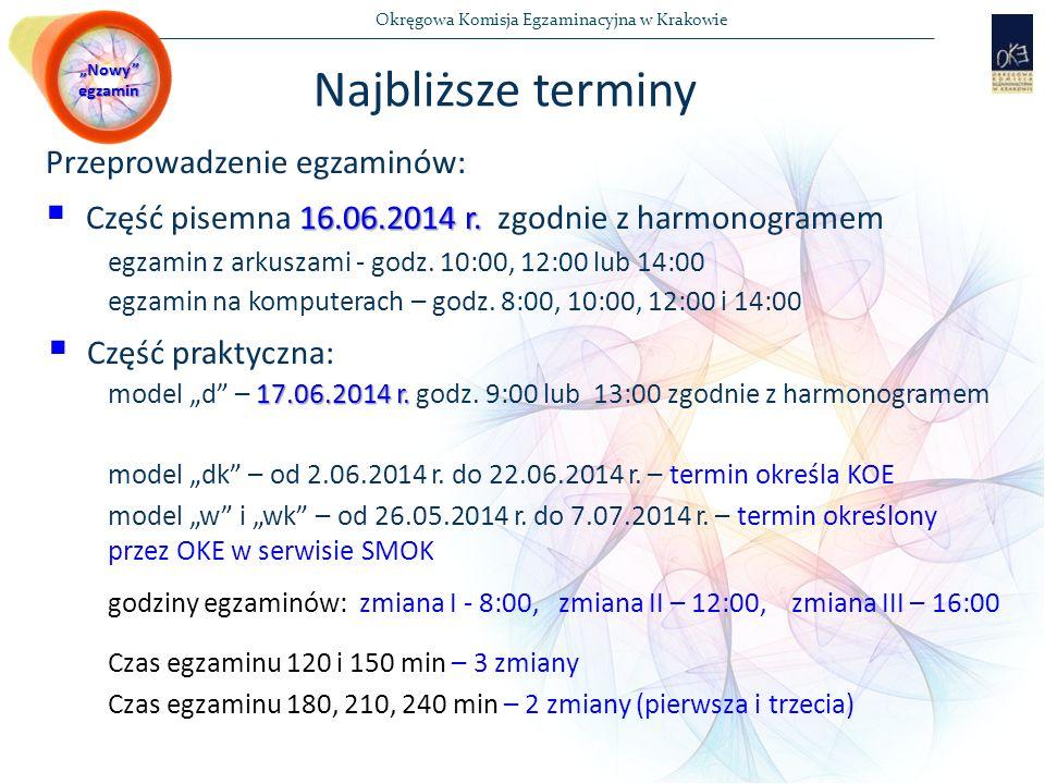 Okręgowa Komisja Egzaminacyjna w Krakowie Przeprowadzenie egzaminów: 16.06.2014 r.