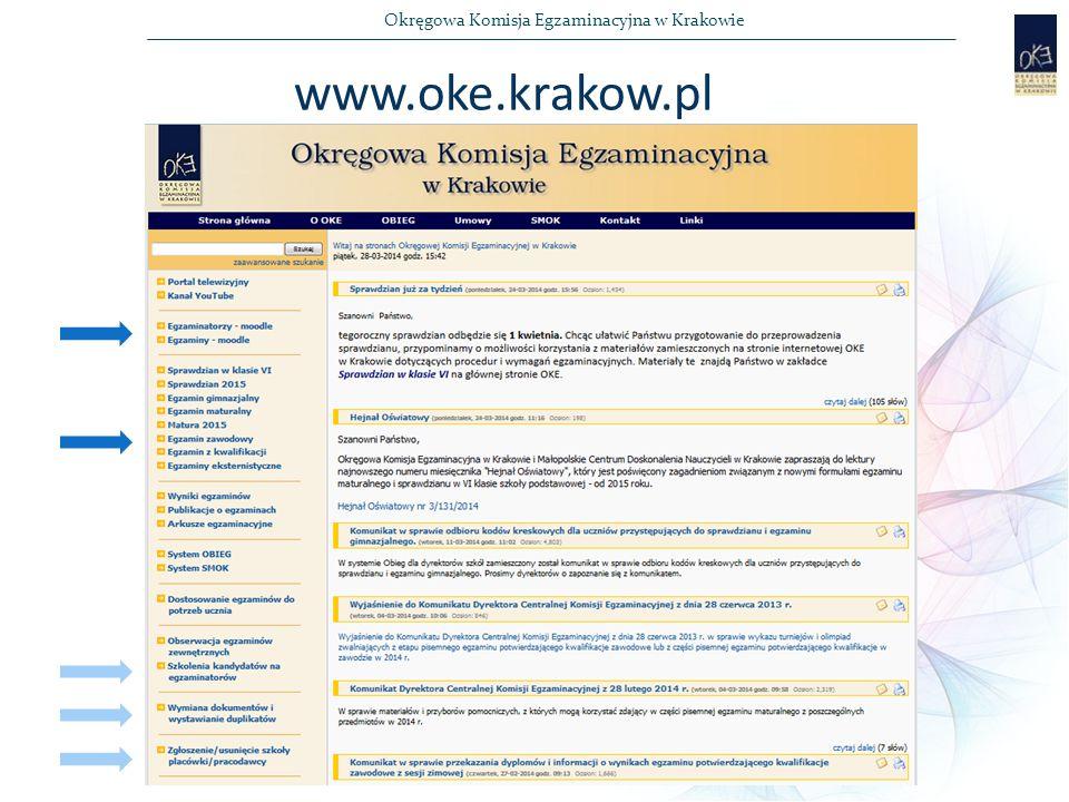 Okręgowa Komisja Egzaminacyjna w Krakowie www.oke.krakow.pl