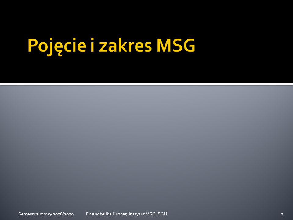 World Trade Report, WTO 2008 83Dr Andżelika Kuźnar, Instytut MSG, SGHSemestr zimowy 2008/2009