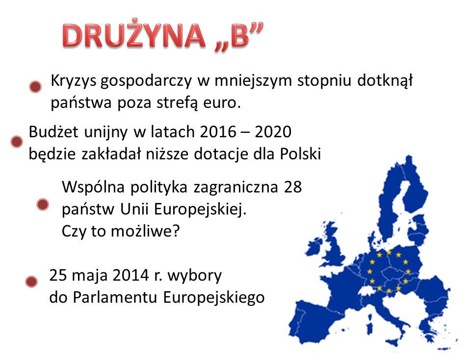 Kryzys gospodarczy w mniejszym stopniu dotknął państwa poza strefą euro. Wspólna polityka zagraniczna 28 państw Unii Europejskiej. Czy to możliwe? Bud