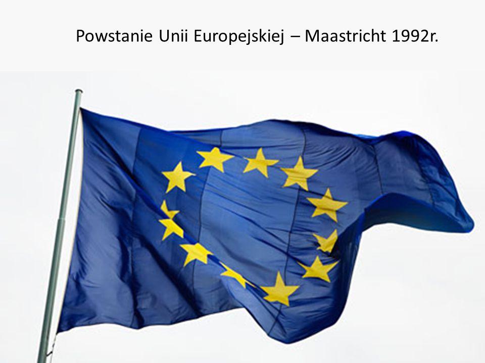 Powstanie Unii Europejskiej – Maastricht 1992r.