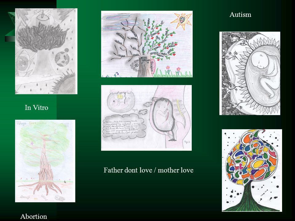 In Vitro Abortion Father dont love / mother love Autism