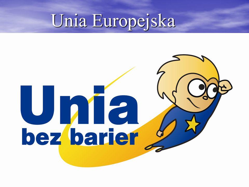 Unia Europejska (UE) jest to gospodarczo- polityczny związek demokratycznych państw europejskich.