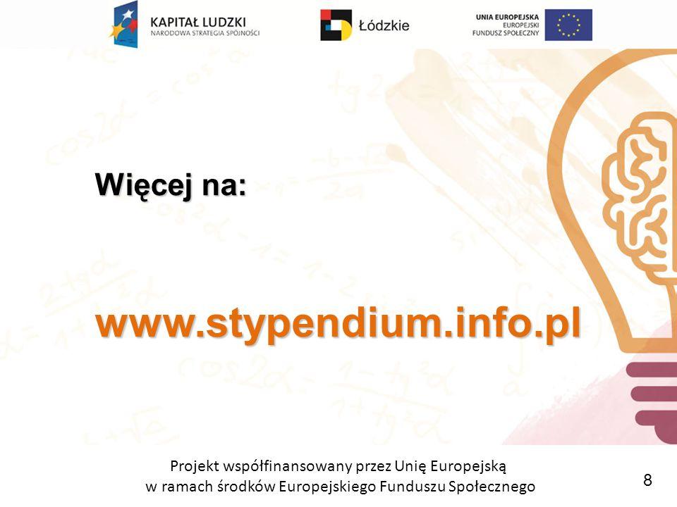 Projekt współfinansowany przez Unię Europejską w ramach środków Europejskiego Funduszu Społecznego Dołącz do nas Dołącz do nas.