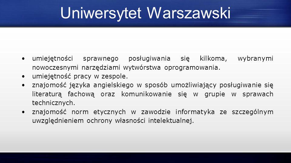 Po ukończeniu II stopnia studiów szkoła gwarantuje nam : ● pogłębioną wiedzę i umiejętności informatyczne.