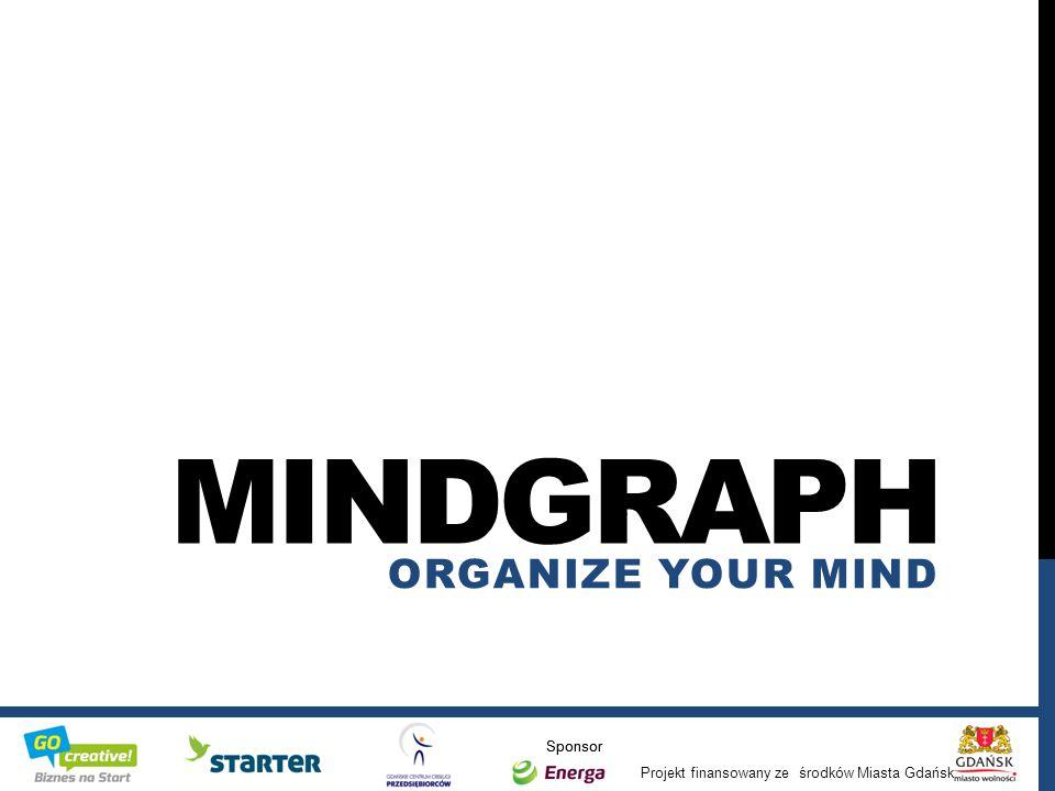 Projekt finansowany ze środków Miasta Gdańsk Sponsor / MINDGRAPH ORGANIZE YOUR MIND