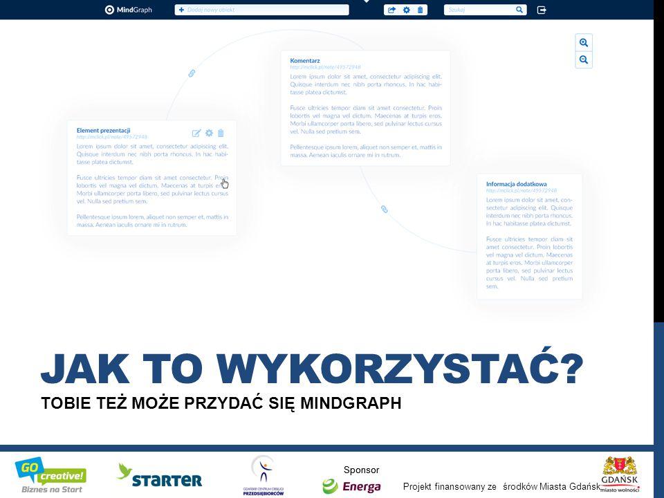 Projekt finansowany ze środków Miasta Gdańsk Sponsor TOBIE TEŻ MOŻE PRZYDAĆ SIĘ MINDGRAPH JAK TO WYKORZYSTAĆ