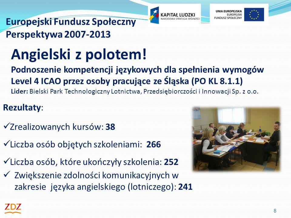 Europejski Fundusz Społeczny Perspektywa 2007-2013 8 Angielski z polotem.