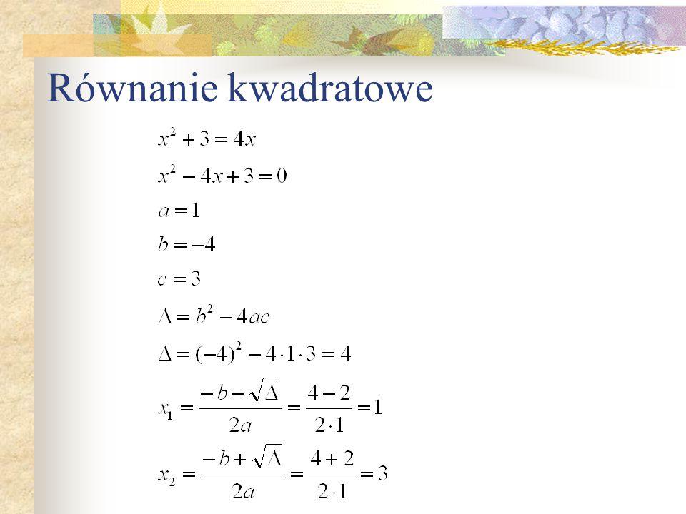 Równanie kwadratowe