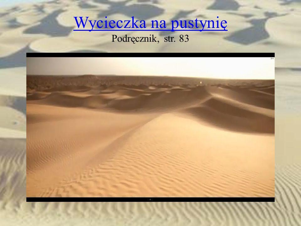 Wycieczka na pustynię Wycieczka na pustynię Podręcznik, str. 83